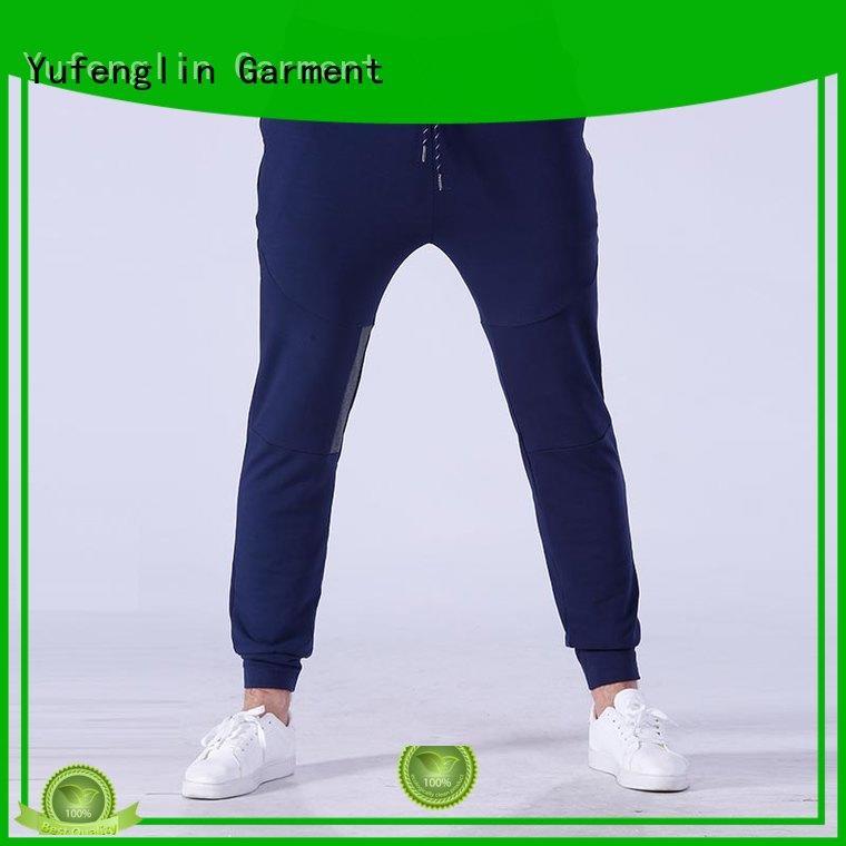 Yufengling durable mens slim jogger pants simple designs for sporting