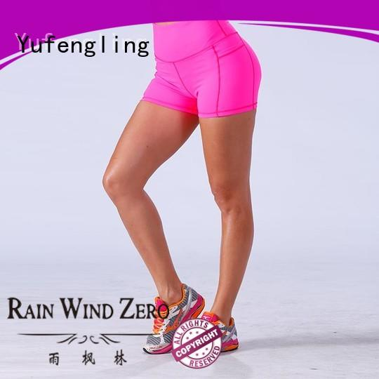 Yufengling gym womens sports shorts manufacturer yoga room