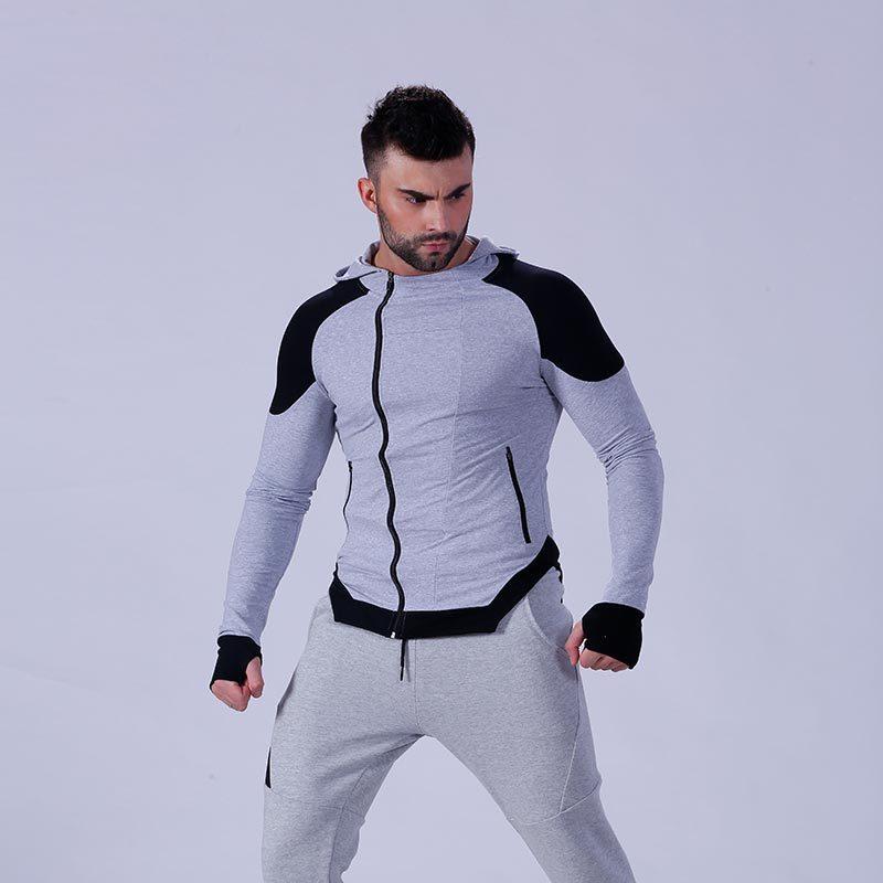 New fashion design athletic wear mens gym hoodie YFLHDM01