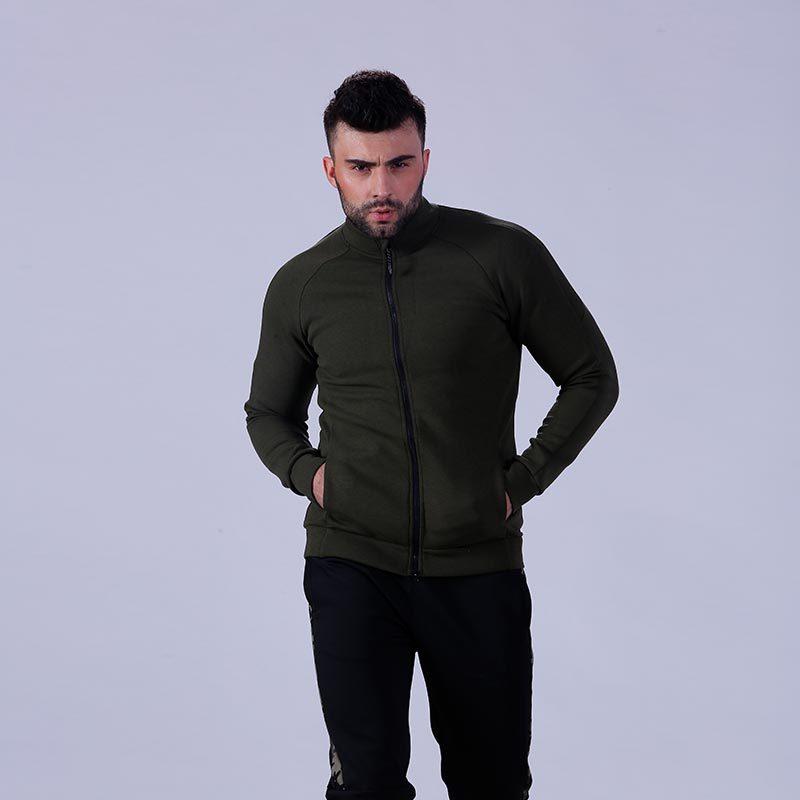Classical fitnesswear mens zip up gym hoodie YFLHDM01