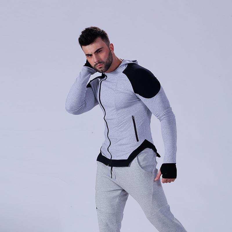 hot-sale mens hoodie zip tranning-wear for training house