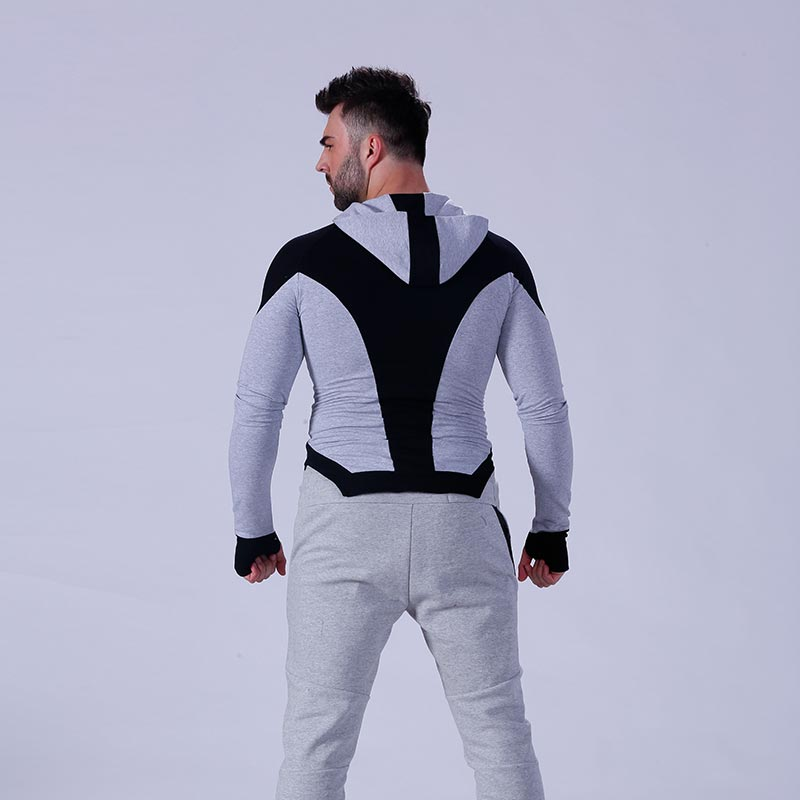 hot-sale mens hoodie zip tranning-wear for training house-7
