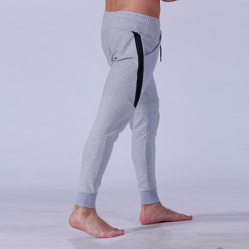 Yufengling quality men's grey jogger pants  tight elastic for sporting-6