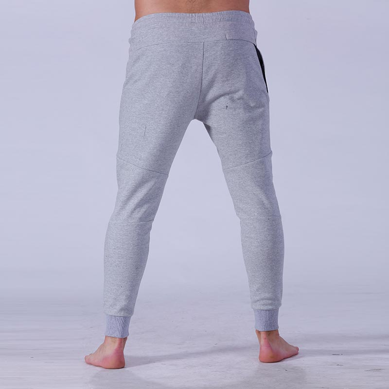 Yufengling quality men's grey jogger pants  tight elastic for sporting-7