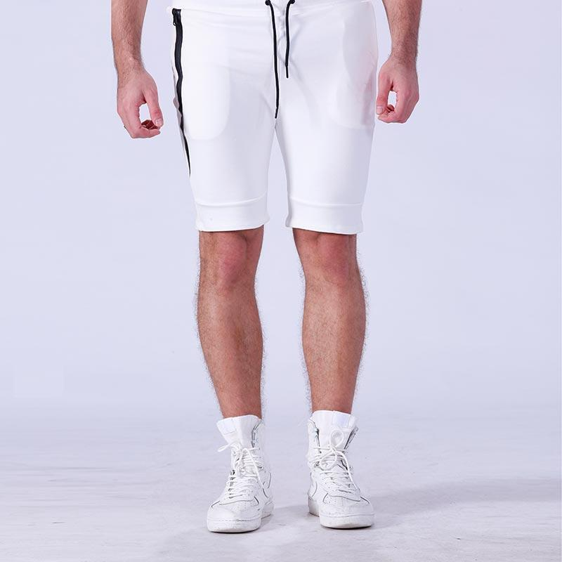 Wholesale plain blank cotton men gym sport running shorts YFLSTM02