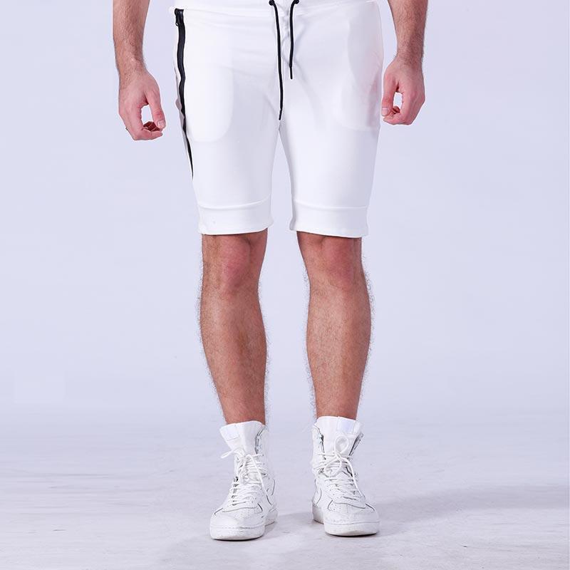 Wholesale plain blank cotton men gym sport running shorts YFLSTM02