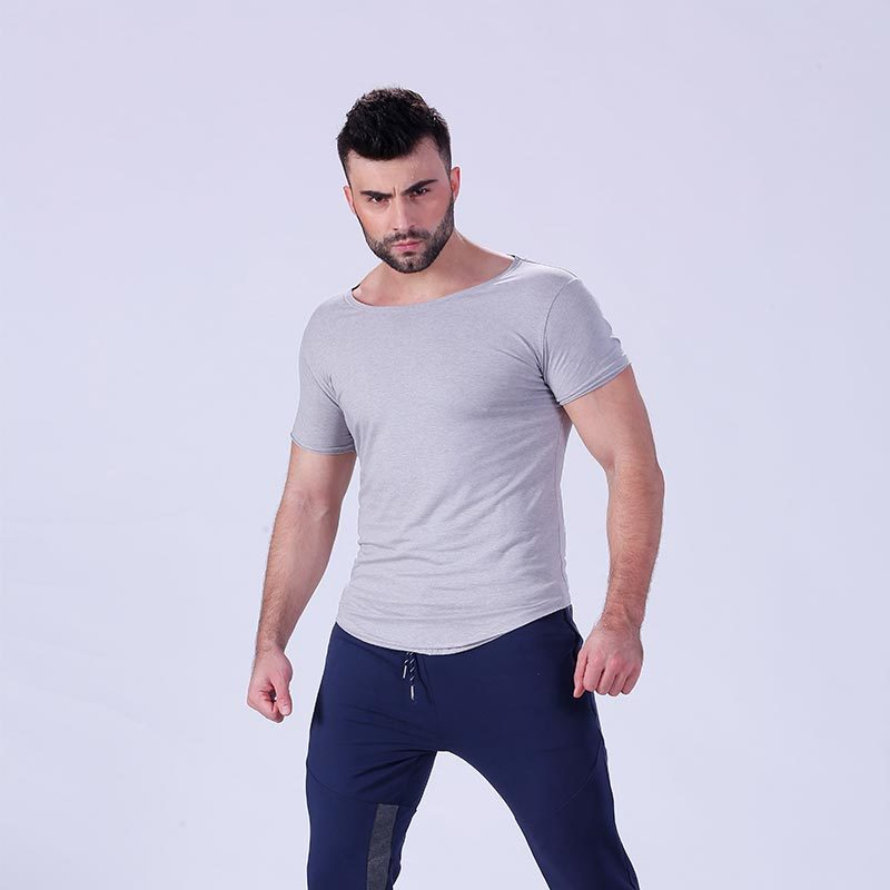 Mens Bodybuilding Muscle Training Plain Sports Gym T Shirt YFLSTM02