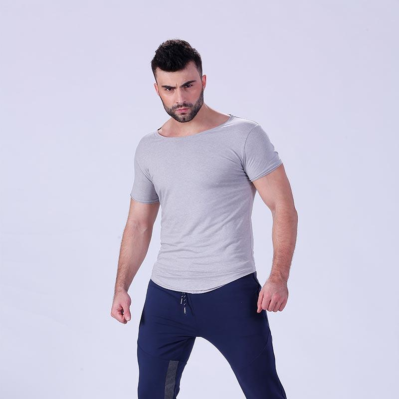 Mens Bodybuilding Muscle Training Plain Sports Gym T Shirt YFLSTM02