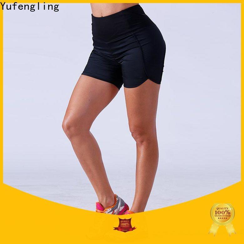 Yufengling bodybuilding womens sports shorts o-neck exercise room