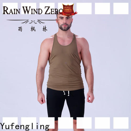 Yufengling solid gym tank top fitting-style fitness centre