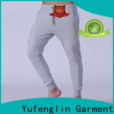 Yufengling men's grey jogger pants wrinkle free yoga room