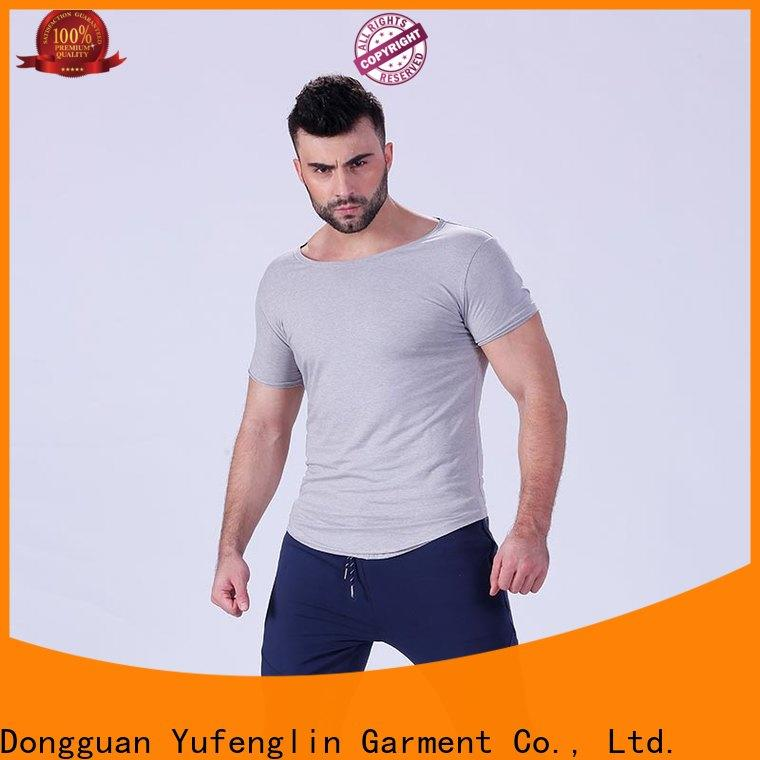 workout t shirts mens muscle o-neck yoga room