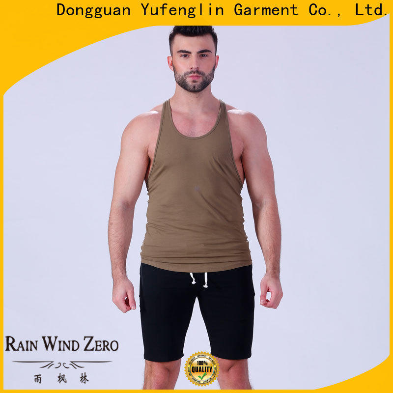 Yufengling cut male tank tops fitting-style yoga room