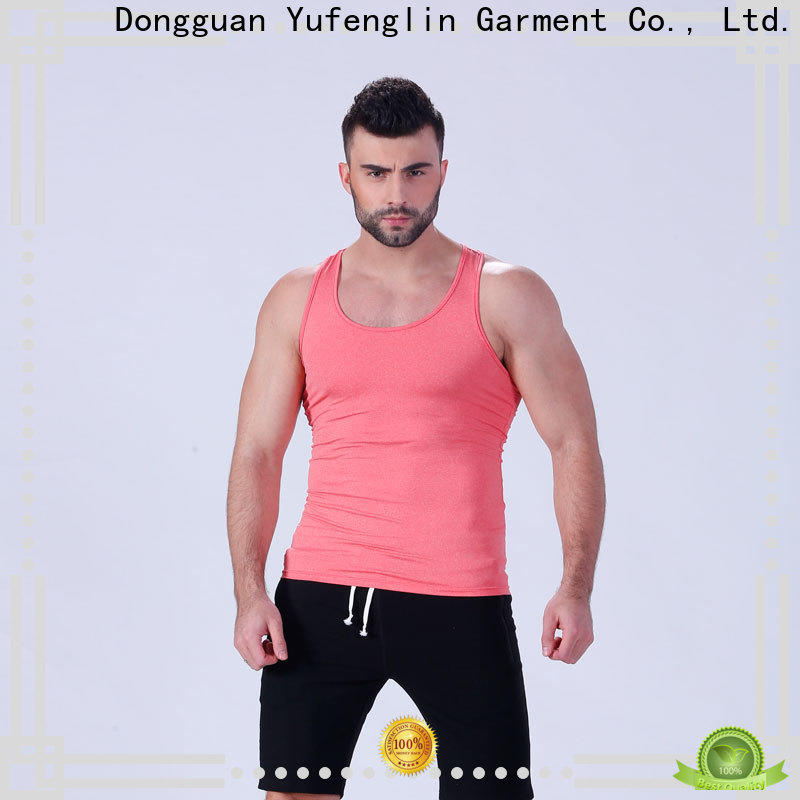 Yufengling oem mens muscle tank fitting-style for training house