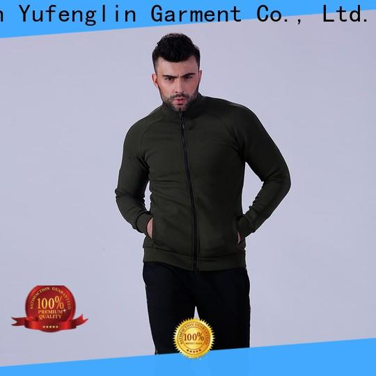 Yufengling solid gym hoodie sports-wear for sports