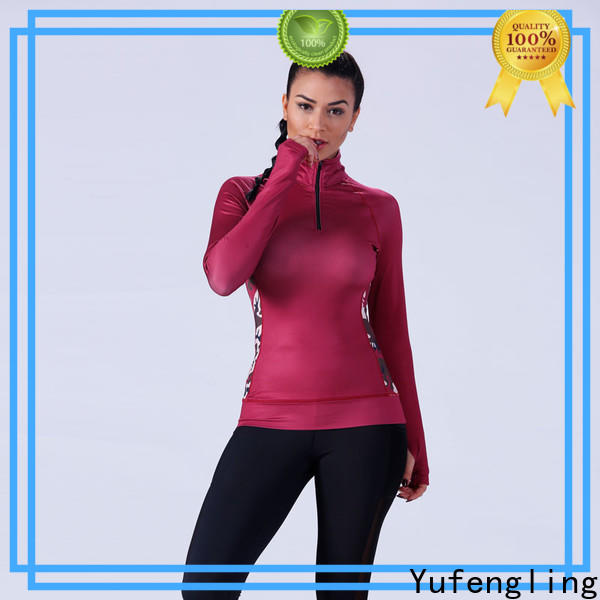 Yufengling exquisite gym t shirts for ladies fitting-style yoga room