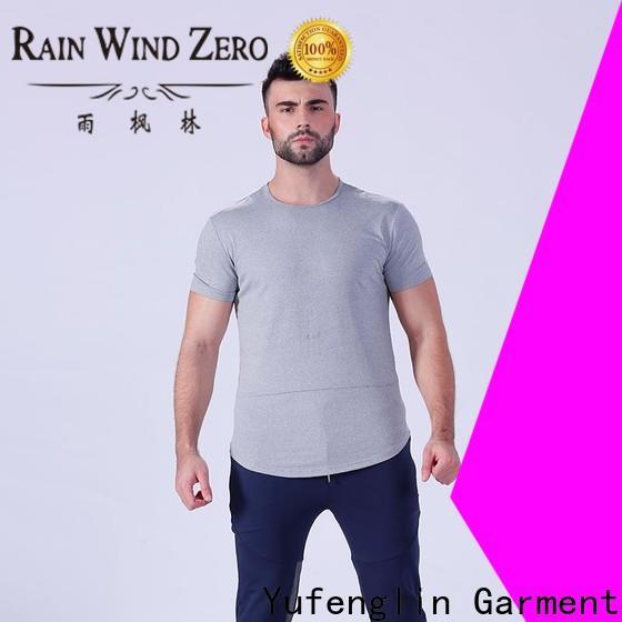 Yufengling workout plain t shirts for men wholesale fitness centre