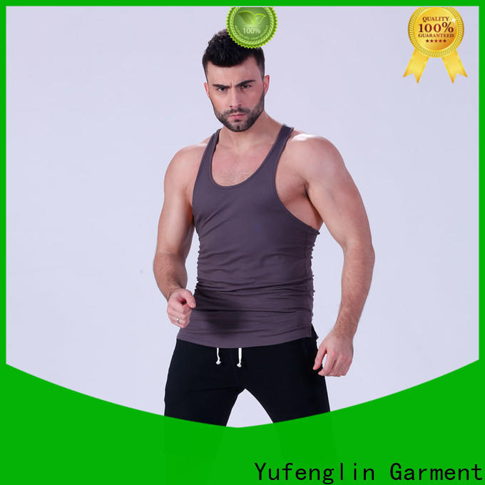 Yufengling muscle mens tank tops exercise room