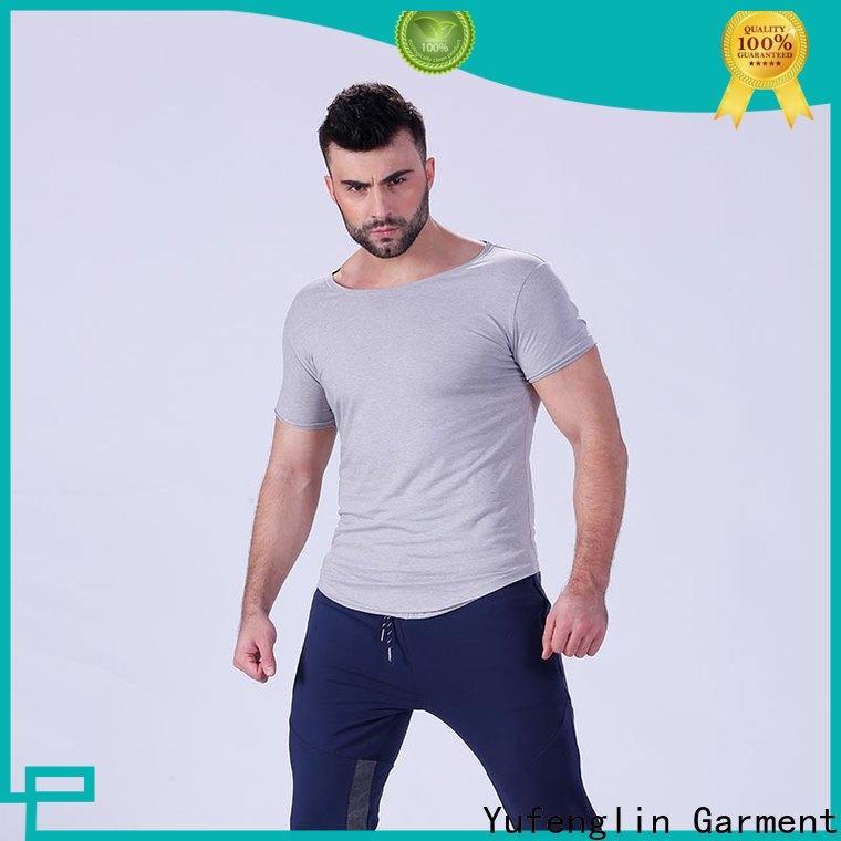 hot-sale plain t shirts for men yfltsm01 in different color fitness centre