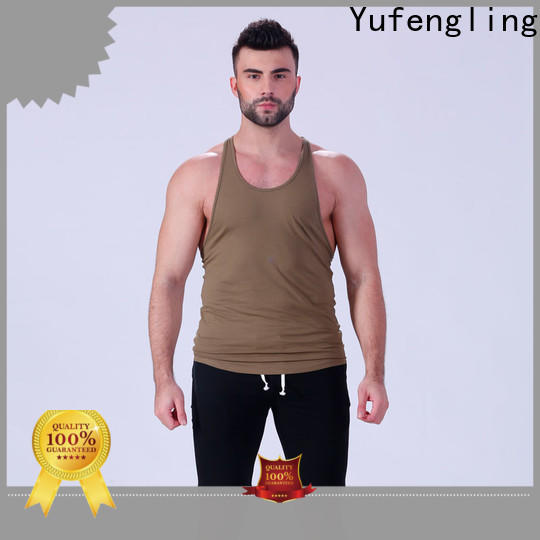 Yufengling durable gym tank top wholesale fitness centre