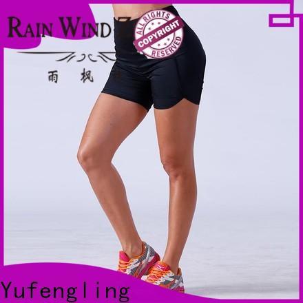 Yufengling bodybuilding athletic shorts womens o-neck colorful
