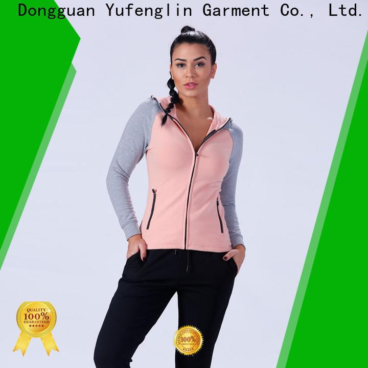 Yufengling slim fit ladies hoodies sports-wear exercise room