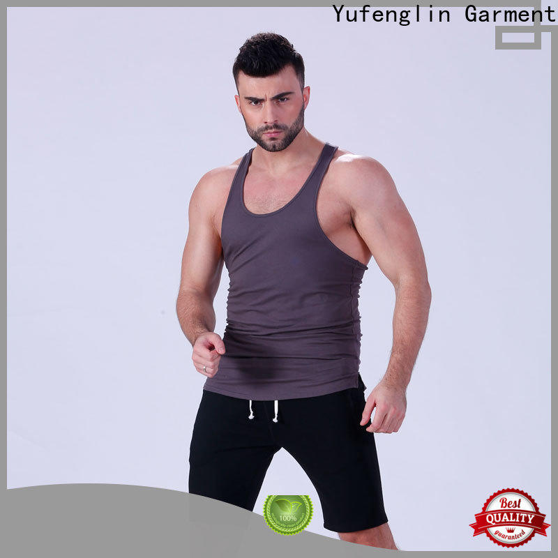 Yufengling awesome custom tank tops fitness for trainning