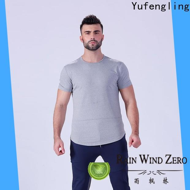 Yufengling fine- quality workout t shirts mens supplier in gym