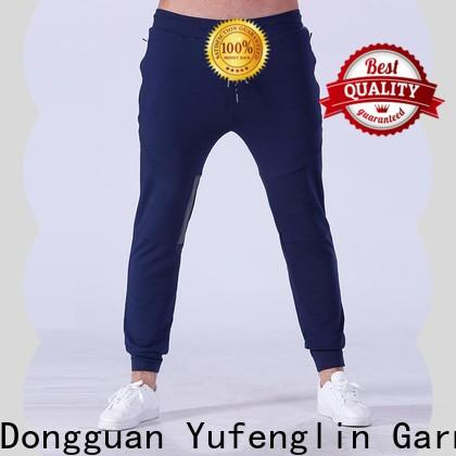Yufengling fine- quality men's grey jogger pants  tight elastic yoga room
