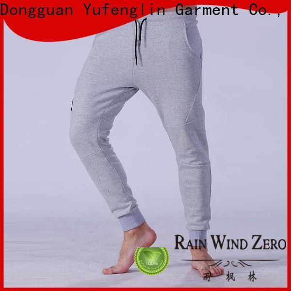 Yufengling cargo mens jogger pants nylon fabric in gym