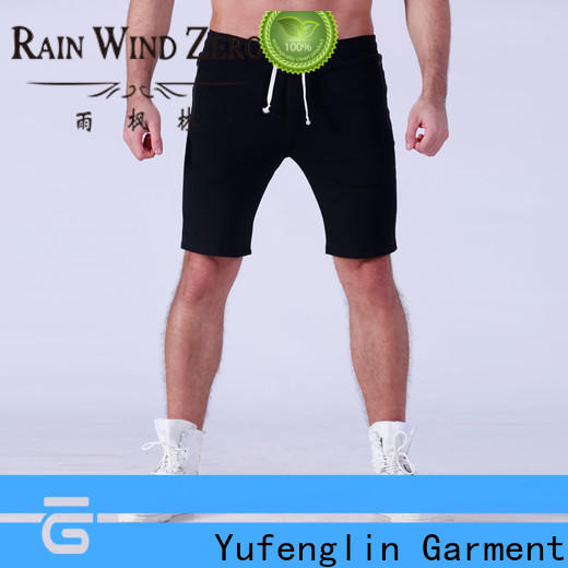 Yufengling blank sports shorts for men supplier