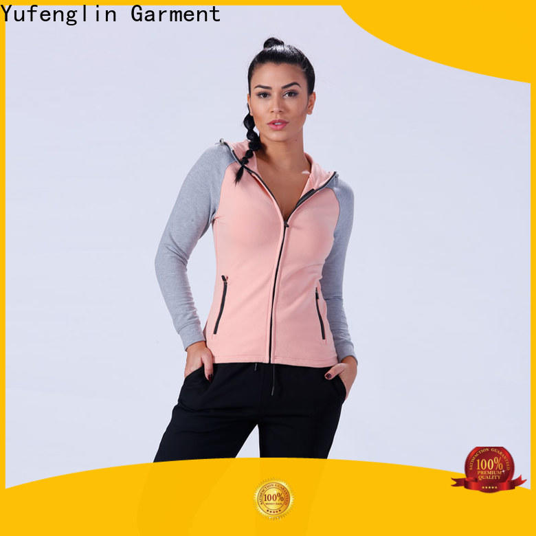 Yufengling women gym hoodies womens wholesale workout