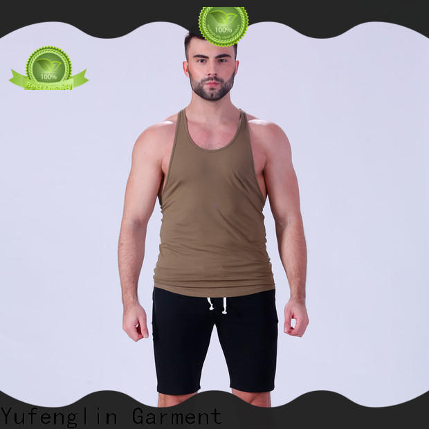 Yufengling gym male tank tops sporting-style for trainning
