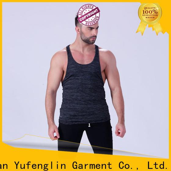 Yufengling oem male tank tops tranning-wear yoga room
