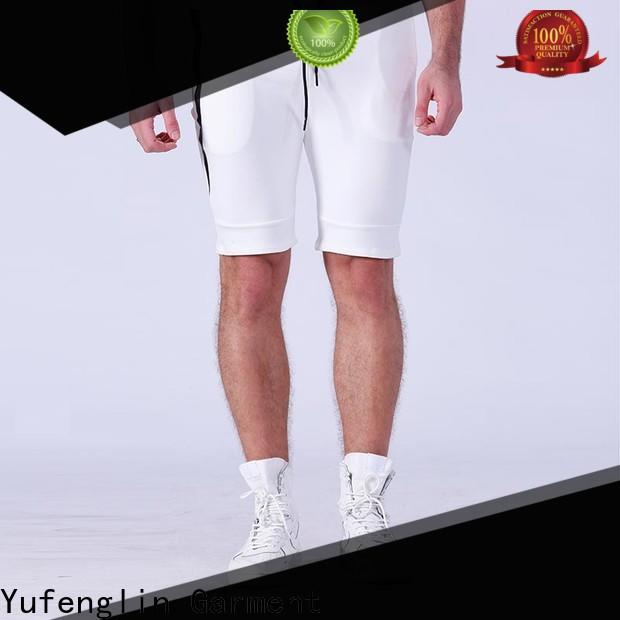 Yufengling plain mens athletic shorts in different color for training house