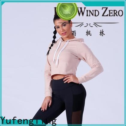 Yufengling zip ladies hoodies ODM service outdoor