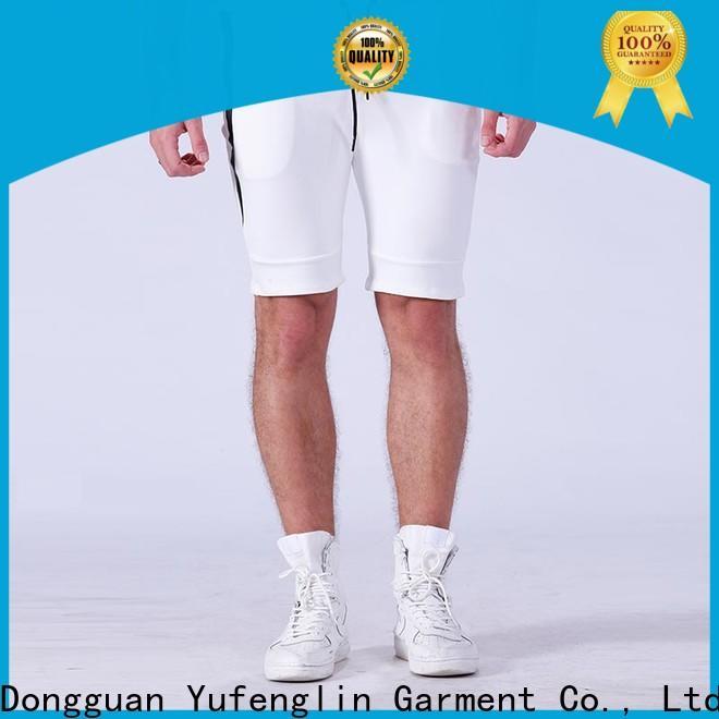 Yufengling yflst01 gym shorts men o-neck yoga room