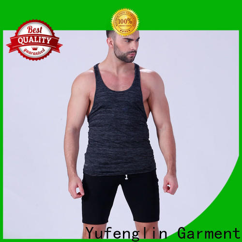 Yufengling quality gym tank tops mens in gym