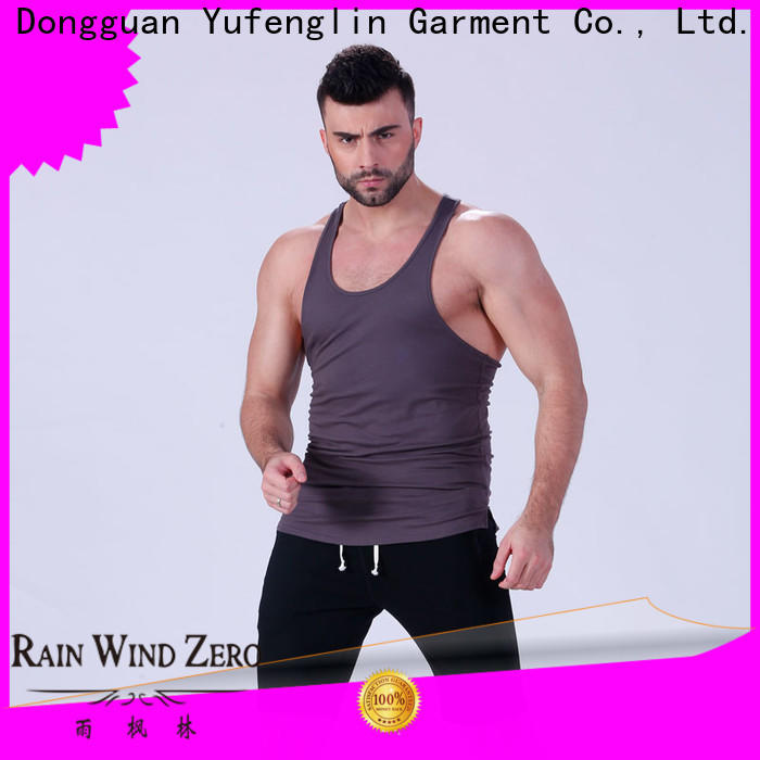 Yufengling quality gym tank tops mens wholesale yoga room