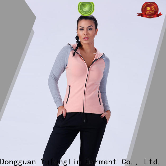 Yufengling color gym hoodies womens exercising outdoor