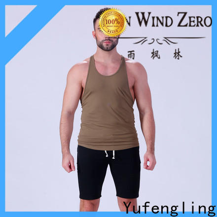 Yufengling hot-sale mens workout tanks sports-wear fitness centre