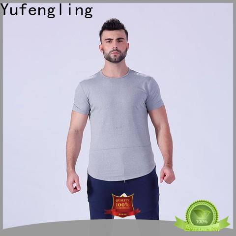 Yufengling hot-sale workout t shirts mens supplier for training house