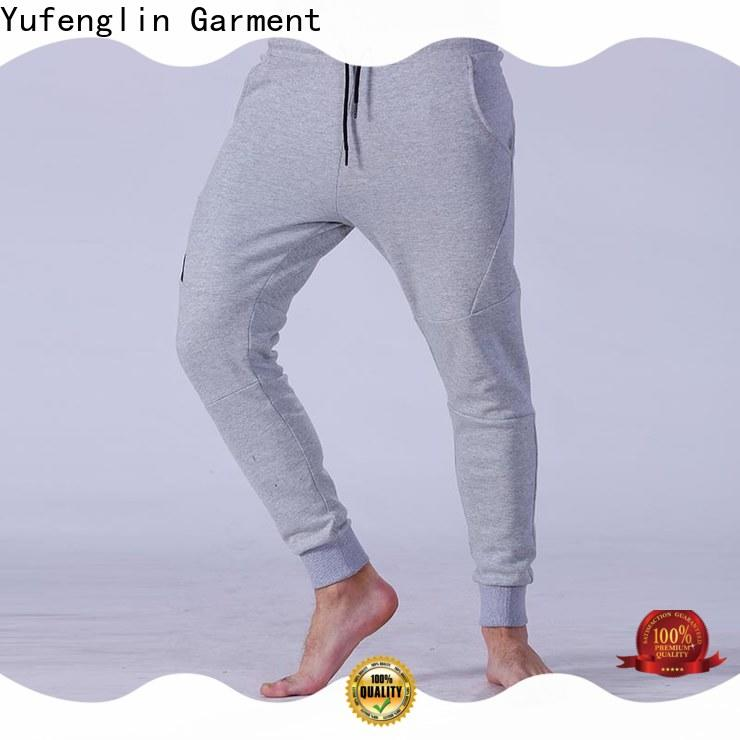 Yufengling reliable men's grey jogger pants nylon fabric exercise room