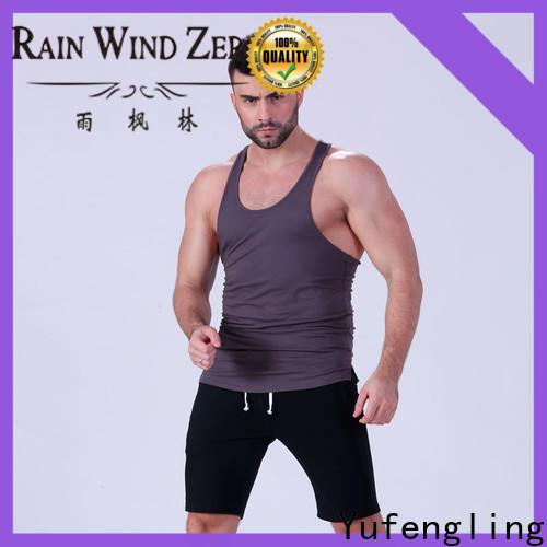 Yufengling fitness mens tank tops wholesale gymnasium