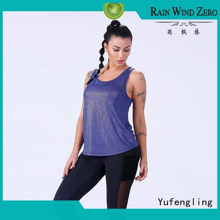 plain womens singlet tops pati-color yoga room Yufengling