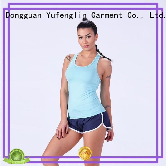 Yufengling dry female tank top for-running colorful
