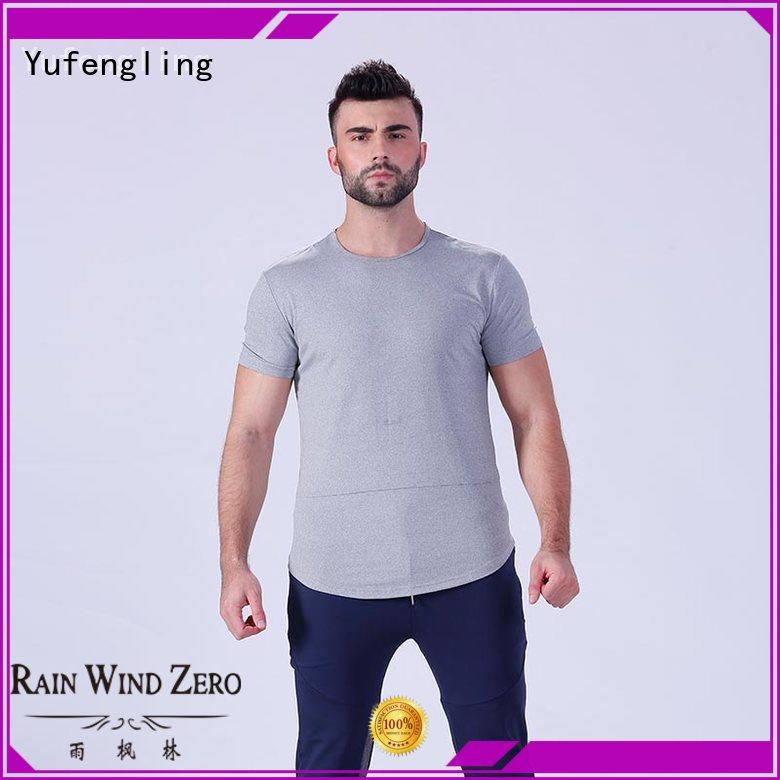 Yufengling style plain t shirts for men wholesale in gym