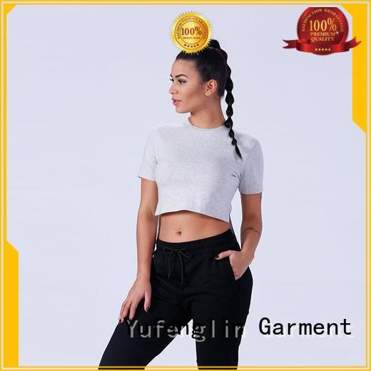 crop ladies long shirts yoga wear for training house Yufengling