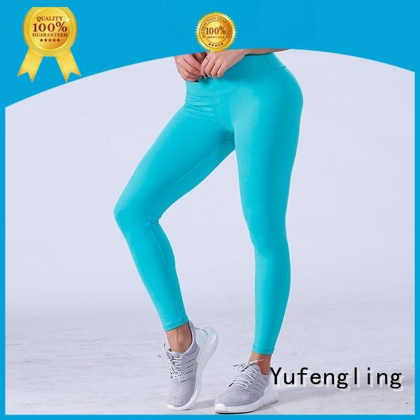Yufengling high-quality workout leggings in different color for training house