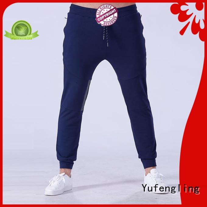 Yufengling plain mens skinny jogger pants breathable for training house